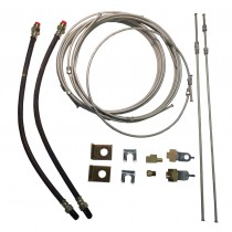 Tandem Axle Brake Line Kit with 20' Metal Line - For Drum Brakes