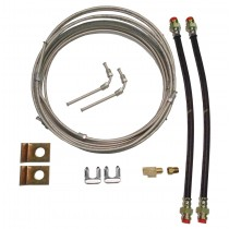 Single Axle Brake Line Kit with 20' Metal Line - For Disc Brakes