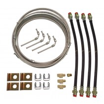 Tandem Axle Brake Line Kit with 20' Metal Line - For Disc Brakes