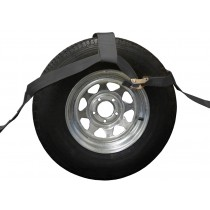 Black Adjustable Wheel Bonnet with Ratchet and Flat Hooks