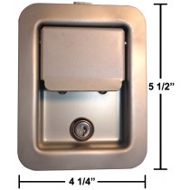 Trailer Door Latch - Flush Door Latch with Key  sc 1 st  TrailerParts.com & Trailer Door Hardware - Door \u0026 Gate Hardware - Products