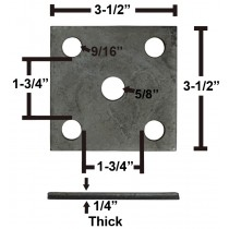 """Galvanized Axle Tie Plate for 1 3/4"""" Axle and 1 3/4"""" Spring"""