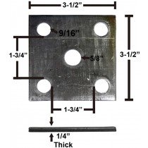 """Oiled Axle Tie Plate for 1 3/4"""" Axle and 1 3/4"""" Spring"""