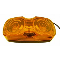 "2"" x 4"" - Amber - Dual Bulb - Marker Light"