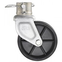 "Pro Series 6"" x 2"" Single Wheel Caster - 1,000 lb Capacity for 2"" Round Jacks"