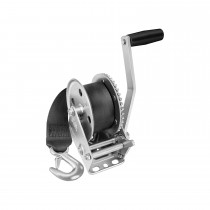 "Fulton 1,100 lbs. Single Speed Hand Winch with 20' Strap - 7"" Handle"