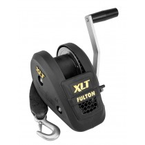 """Fulton 1,500 lbs. XLT Series Single Speed Hand Winch with 20' Strap - 8"""" Handle"""