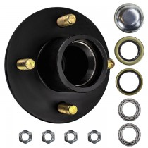 "4 Bolt on 4"" Trailer Hub with 1-1/16"" Bearings (L44649)"