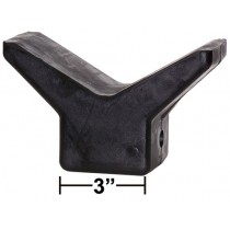 "3"" V-Style Bow Stop - Black Rubber"