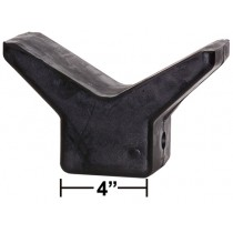 "4"" V-Style Bow Stop - Black Rubber"