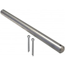 "5/8"" x 9 1/4"" Roller Shaft with Cotter Pins - Stainless Steel"