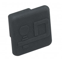 "Rubber Economy Receiver Tube Cover for 1-1/4"" Sq. Receivers"