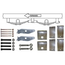 """Slipper Spring Tandem Axle Hanger Kit for 2"""" Wide Slipper Springs"""