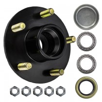 "5 Bolt on 4 1/2"" Trailer Hub with 1 1/4"" x 3/4"" Bearings (L67048 x 11949)"