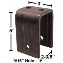 "Front Hanger for 2"" Spring - 5"" Height - Raw Steel - Weld-On"