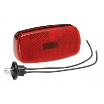 Clearance Light #59 Red with Reflex w/Black Base