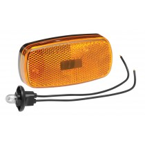 Clearance Light #59 Amber with Reflex w/Black Base
