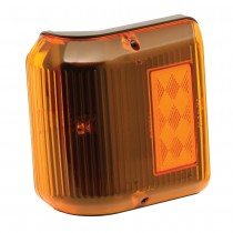 Clearance Light #86 Wrap-Around Amber w/Black Base