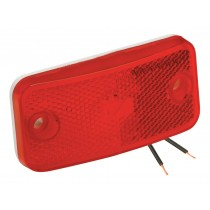 Clearance Light #178 Red with White Base with Foam Gasket