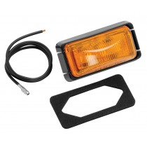 Clearance Light Sealed #37 Amber with Black Base and Wire
