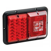 Bargman LED Taillight Double w/Incandescent Backup Light