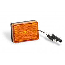 Clearance Light LED Waterproof Amber w/Reflex w/Black Base