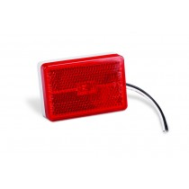Clearance Light LED Waterproof Red w/Reflex w/White Base