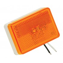 Clearance Light LED Waterproof Amber w/Reflex w/White Base