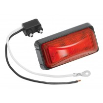 Bargman #37 Waterproof LED Replacement Clearance Light - Red with Black Base