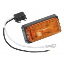 Bargman #37 Waterproof LED Replacement Clearance Light - Amber with Black Base