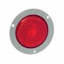 "2.5"" Round LED Red Clearance Light with Mounting Flange"