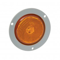 "2.5"" Round LED Amber Clearance Light with Mounting Flange"
