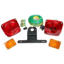 """Incandescent Light Kit with 25' Wire Harness for Trailers Under 80"""" Wide - Marker Lights Included"""