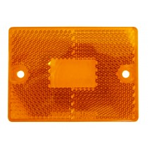 "2"" x 2 3/4"" Lens - Amber - Screws NOT Included - Fits 114a"