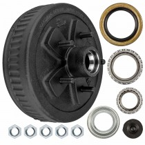 "Dexter 10"" x 2 1/4"" Brake Drum - 5 Bolt on 5"" with 1 3/8"" x 1 1/16"" Bearings (68149 x L44649) - 1/2"" Studs"
