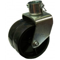 "6"" x 2"" Double Wheel Caster - 1,000 lb Capacity for 2"" Round Jacks"