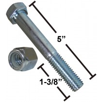 "1/2"" x 5"" Zinc Bolt with Nut"