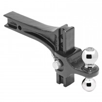 "Adjustable Dual-Ball Ball Mount System 2"" Square Shank by Pro Series"