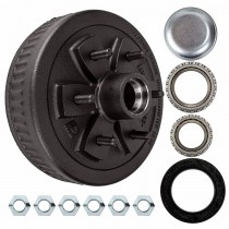 "Dexter 10"" x 2 1/4"" Brake Drum - 6 on 5 1/2"" with 1 3/8"" x 1 1/16"" Bearings (68149 x L44649) - 1/2"" Studs"