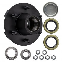 "6 Bolt on 5 1/2"" Trailer Hub with 1 3/4"" x 1 1/4"" Bearings (25580 x 15123)"