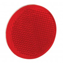 "Reflector 2-3/16"" Round Adhesive Mount Red"