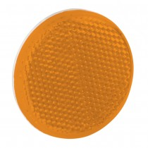 "Reflector 2-3/16"" Round Adhesive Mount Amber"