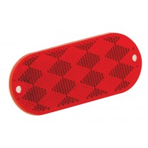Reflector Oblong Red with Mounting Holes and Adhesive Back
