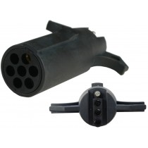 7-Way Round Pin to 4-Way Flat Connector Adapter