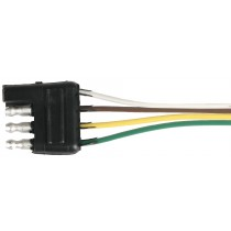 """12"""" Wire Harness - 4-Way Flat Connector - Trailer End"""