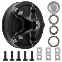 "Dexter 12"" x 2"" Rim Clamp Style Mobile Home Brake Drum - 5 on 9.4"" with 1 3/8"" x 1 1/4"" Bearings (L68149 & LM67048) - 9/16"" Studs"