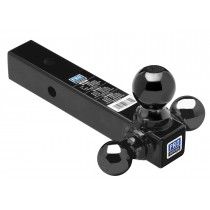 Pro Series Tri-Ball Mount, Hollow Shank with Black Balls - up to 10,000 lbs. GTW