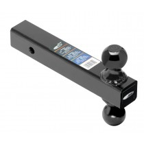 """Dual-Ball Mount, Solid Shank, 1 7/8"""" and 2"""" Black Balls, Tow Ready brand"""