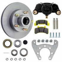 """Tie Down Engineering 9.6"""" Integral Disc Brake Assembly - 5 on 4 1/2"""" - Galv-X Coated Rotors"""