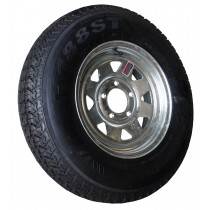 "175/80D13, Galvanized, 1,360 lb. Capacity, 5 on 4 1/2"", ""C"" Load Rating"